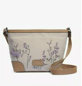 Radley Bloomsbury Way Floral Bag Medium Cross Body or Shoulder Handbag Canvas
