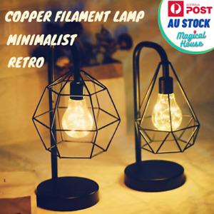 Minimalist Retro Creative Copper Wire Table Lamp LED Home Decor Night Lighting