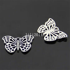 10 PC Tibet Silver Butterfly animal beads pendant charm accessories  PL136