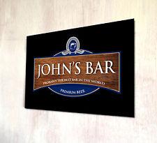 Personalizzato A4 metallo segno etichetta birra effetto legno placca Cocktail & pub insegne