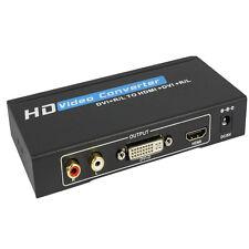 New DVI to HDMI+DVI converter+audio supports DVI&HDMI display simultaneously