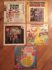 LOT OF 5, VINTAGE 1970'S, SESAME STREET LP (MUSIC ALBUMS) RUBBER DUCKIE ,70'-79'