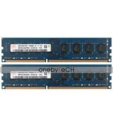 Hynix 8GB 2x4GB 2Rx8 PC3-10600 DDR3-1333 240PIN UDIMM Desktop Memory NON-ECC CL9