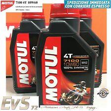 Motul 7100 10W-60 4T Olio Motore Moto API SG/SH/SJ/SL/SM/SN Jaso MA2 3 Litri