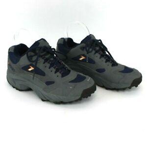 Vintage Brooks Women's Sz 8 Gray Blue Suede Lace-up Shoes Treaded