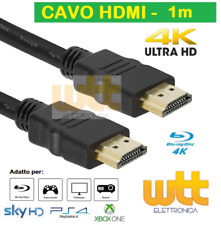 Cavo HDMI 1m 4k 1080p Spina-spina 19 poli 1.4 High Speed with Ethernet