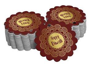 Hang Tags Happy Diwali Favor Gift Tags Real Foil Tag-SH3_31BG