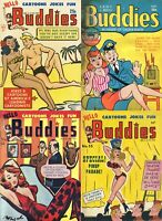 23 OLD ISSUES OF HELLO BUDDIES COMICS RISQUE SAUCY RACY SEXY ART MAGAZINE ON DVD