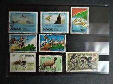 Lot de 8 timbres d'animaux - Sénégal Liban Madagascar
