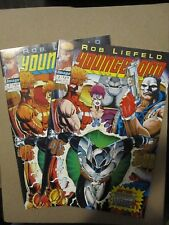 YOUNGBLOOD # 2 Red & Yellow Variants with Cards, First Prophet and Shadowhawk