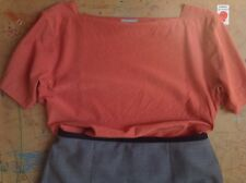 RRP£365 Margaret Howell Coral Silk Oversized Boxy Top, Size UK 10 +