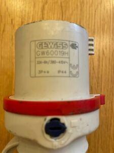 Gewiss 32A 4Pin 3P+E Red Plug IP44
