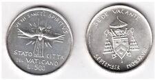 1978 Vaticano Lire 500 Argento Sede Vacante Settembre Fior Di Conio UNC