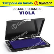 CUSCINETTO TAMPONE TIMBRI DA TAVOLO cm 8x12 INCHIOSTRO TIMBRI COLORE VIOLA