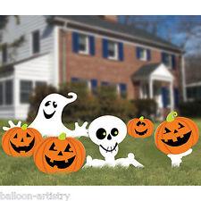 6 haunted halloween spooky citrouilles fantômes jardin cour pelouse signe décorations