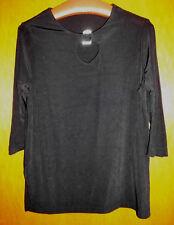 CITIKNITS Tolles Damen-Shirt ca. 38/40 Schwarz mit Strass 3/4 Arm TOP-Zustand