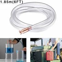 Gas Siphon Pump Fuel Gasoline Tubing Water Shaker Self Priming 150cm Hose Brass