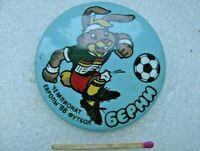 Vintage Badge Sign UEFA 1988 European Football Championship Football Soccer