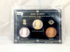 Mark McGwire - Record breaking home Run Proof Set of 3 coins