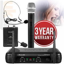 PWM200 3in1 VHF Wireless Radio Microphone System Handheld Headset Lavalier KWM11
