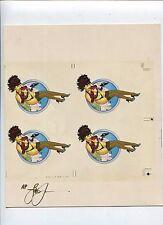 1993 STEVE WORON'S FEMALE FANTASY UNCUT 4-CARD SIGNED SHEET OF C1. PEEK-A-BOO