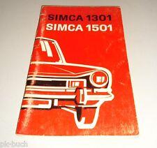 Betriebsanleitung Handbuch Simca 1301 1501 Stand 03/1973