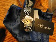 NIB BLUMARINE WATCH W/ GENUINE CRYSTALS MADE OF PLAY OF COLOR MOTHER OF PEARL!