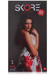 SKORE NOT OUT- CLIMAX DELAY & DOTTED CONDOMS (MAKE THE FUN & GAMES LAST IN BED)