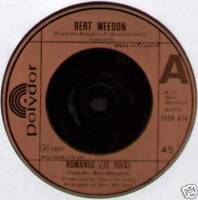 "BERT WEEDON ~ ROMANCE (JE SUIS) / BLUE ECHOES ~ 1977 UK 7"" SINGLE"