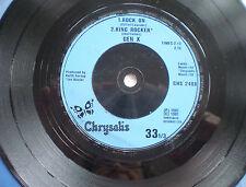 "GEN X (BILLY IDOL) - 7""EP - ""DANCING WITH MYSELF"" - 1981 UK"