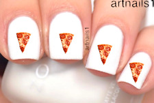 Pizza Nail Art Food Foodie Water Decals Sticker Manicure Salon Mani Polish Gift