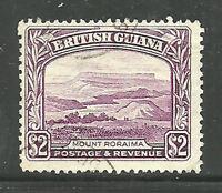 Album Treasures British Guiana Scott #  240  $2  Mt Roriama  VF Used CDS