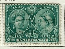 CANADA; 1897 early classic QV Jubilee issue used 2c. value