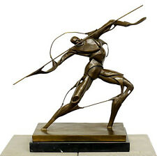 Futurismus Skulptur - Kämpfer mit Speer - signiert Boccioni