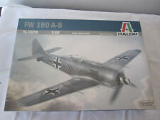 ITALERI 1/48th SCALE GERMAN FW-190A-8 FIGHTER # 2678 NEW Sealed