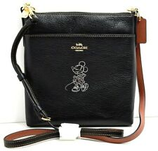 Coach Disney Genuine Limited Womens Minnie Mouse Cross Body Bag Handbag Black