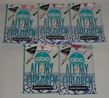 Five (5) 1991 ALL MY CHILDREN Collector Cards Foil Packs - 10 cards per pack