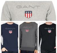 GANT Men's Shield C-Neck Sweats. Navy, Grey, Black,Charcoal. S M L XL XXL