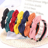 Solid Color Striped Headband Rabbit Ears Teeth Anti-skid Hair Band Accessories