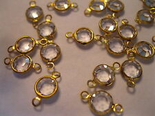 50 Swarovski 2 loop channel set drops in 29ss Crystal/Brass settings.