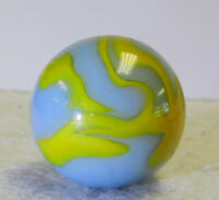 #12541m Vintage Likely Alley Agate Shooter Marble 1 Inch