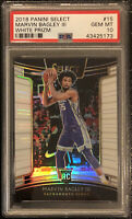 2018 Marvin Bagley III Panini Select WHITE PRIZM #15 /149 Rookie RC PSA 10 Rare