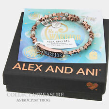 Authentic Alex and Ani Be A Warrior Two Tone Rose Gold Bangle Wrap