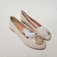 Nanette Lepore Womens Haylie Ballet Flat Shoes Beige Crocodile Embossed 7 M New