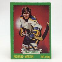 1973 74 OPC O Pee Chee Richard Martin 173 Buffalo Sabres Hockey Card E652