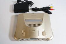 NINTENDO 64 Limited Gold Console Wears & AC AV N64 Japan Import US Seller
