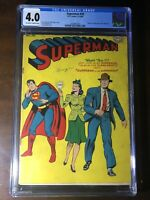 Superman #30 (1944) - 1st Mr. Mxyztplk! 1st Flight! - CGC 4.0 - Golden Age Key!!