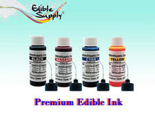 Edible Supply 2 oz - 4 Color Edible Ink Refill Kits for All Canon Printer