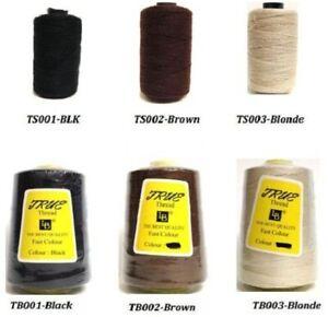 True Weaving Thread Black TS001 Small Black & TB001 Big Black- Best Quality