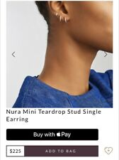 Monica Vinader Single Mini Nura Stud Earring Diamond Like Maria Tash